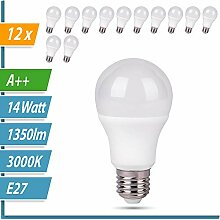LED Glühbirne   Ersetzt 100W   12er SET   A60