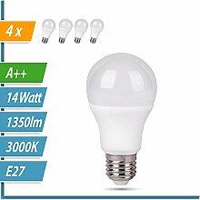 LED Glühbirne   Ersetzt 100W   4er SET   A60