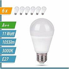 LED Glühbirne   Ersetzt 60W   6er SET   A60