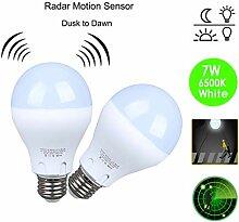LED Glühbirne mit Bewegungsmelder, Sinzau E27 7W