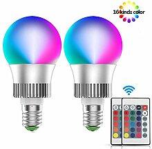 LED Glühbirne RGB 10W E27 Farbige Leuchtmittel