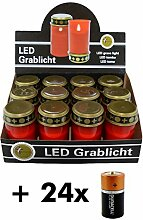 LED Grablicht, Grableuchte elektrisch 12cm, mit 2