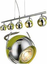 LED Hängelampe 5 flammig Bronze Esszimmer Lampe