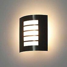 LED/Halogen Edelstahl Wandlampe Gardena-19 E27