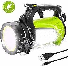 LED Handscheinwerfer,Wiederaufladbare 1000 Lumen