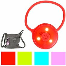 LED-Handtaschenlicht Licht Taschenlicht Taschenlampe mit Blinkfunktion inkl. Batterien in 4 Farben