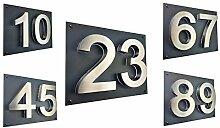 LED-Hausnummer 3D Hausnummerschild Edelstahl V2A