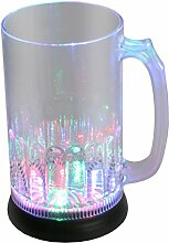 LED-Highlights Glas Becher Bierglas 800 ml LED Rgb
