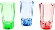 LED-Highlights Glas Becher Schnapsglas 3er Set