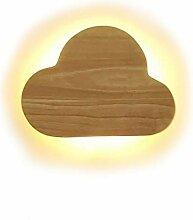 LED Holz Wolke Wandleuchte Wandlampe Kreativ
