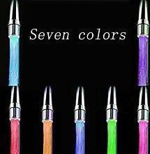LED HORN Form Temperatur dreifarbig Verfärbung Automatische Verfärbung Wasserhahn Düse silberfarben / weiß