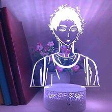 LED Illusion Licht Bokuto Anime Lampe Haikyuu