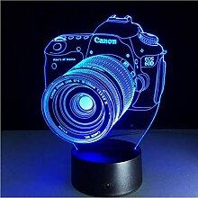 LED Illusion Nachtlicht 3D Neuheit Lampe Kamera