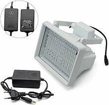 LED IR-Strahler,LED IR Scheinwerfer,IR-Strahler Licht Diode Nachtsicht für Überwachungskamera CCTV 850nm(60°16W Scheinwerfer mit Netzteil)