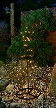 LED Kegel Lichterbaum Warmweiß Stern Deko Baum Pyramide Außen, Größe:120 cm