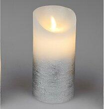 LED Kerze mit Wackeldocht mit Timer D. 7cm H. 15cm