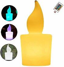 LED Kerze Stehlampe, Nachtlicht Magische Farbe LED