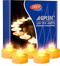 LED Kerzen 24 Stück flammenlose flackernde