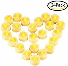 LED Kerzen, Nasharia 24 Stück LED Flammenlose