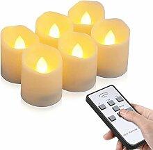 LED Kerzen, otumixx 6 LED Flammenlose Teelichter,