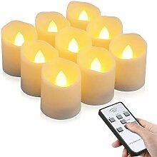 LED Kerzen, otumixx 9 LED Flammenlose Teelichter,