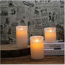 LED Kerzen Teelichter, flackernde flammenlose