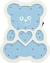 LED Kinderlampe LED/2xAA blau Bär