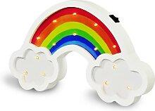 LED Kinderlampe LED/2xAA Regenbogen