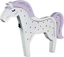 LED Kinderlampe LED/2xAA violettes Pferdchen