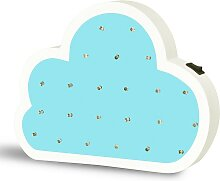 LED Kinderlampe LED/2xAA Wolke