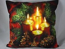 LED Kissenhülle 40x40 Weihnachten Advent
