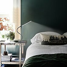 LED Klemmleuchte 6W dimmbare Bettleuchte Farben Leselampe Flexible Augenschutz für Schlafzimmer Büro mit 5 Helligkeitstufen mit 5 helle USB-Kabel Inklusive[Energieklasse A++]