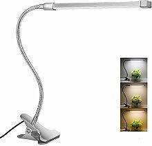 20LED Klemm Leuchte Dimmbar Leselampe Flexibel Tisch-Lampe Schreibtischlampe USB
