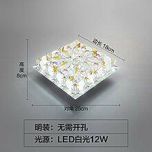 LED Kristall lampe Flurlampe Diele mit hellen modernen minimalistischen kreative Individualität Veranda Lichter, weißes Lich