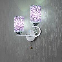 LED Kristall Wandleuchte Wandleuchte Wohnzimmer Schlafzimmer Nachttischlampe Study Restaurant mit Gang Korridor Aluminium Chassis Anti-Ros