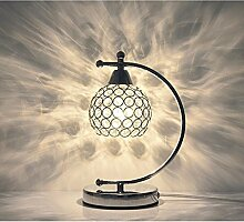 LED Kristalllampe Tischlampe Schlafzimmerlampe