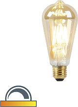 LED-Lampe E27 ST64 8W 2000-2600K mit gedimmtem bis