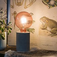 LED Lampe G125 E27 4W 2100K 300LM rosa Wendelfaden