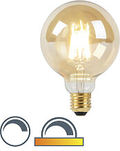 LED-Lampe G95 E27 8W 2000-2600K mit gedimmtem bis