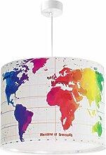 LED Lampe Kinderzimmer Decke Pendelleuchte Welt