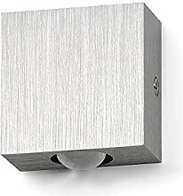 LED Lampe LEDia.1 1W Warmweiß Aluminium geburstet