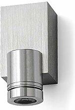LED Lampe LEDia.4 1W Warmweiß Aluminium geburstet