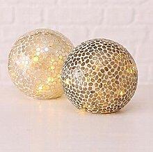 LED-Lampe Mosaik 2sort D15cm Material: Glas lackier
