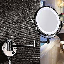 Led-Lampe Spiegel Badezimmer Kosmetikspiegel Falten Teleskop Kosmetikspiegel