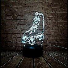 Led Lampe Sport Rollschuhe Schuhe Mehrfarbig