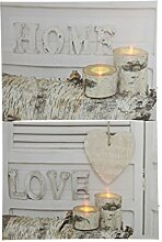LED Leinwand Bild mit Home und Love