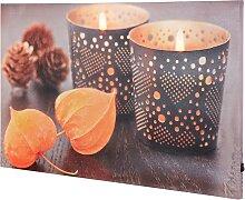 LED-Leinwandbild Indian Summer, orange