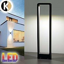 LED Leuchte Standleuchte HELEN-2 5W - 400lm IP54 Warmweiss Aussenleuchte Außenlampe Standlampe Gartenleuchte Flurleuchte 230V