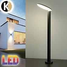 LED Leuchte Standleuchte MELANIE-2 6W - 450lm IP54 Warmweiss Aussenleuchte Außenlampe Standlampe Gartenleuchte Flurleuchte 230V