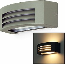 LED Leuchte Wandleuchte IRA E27 FASSUNG IP54 GRAU!!! Aussenleuchte Außenlampe Wandlampe Gartenleuchte Flurleuchte 230V